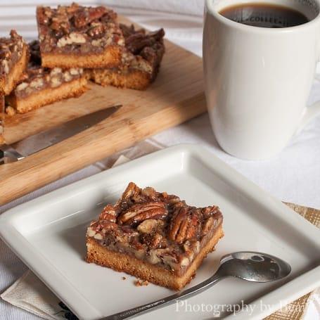 Vegan, Gluten and Refined Sugar Free Pecan Pie Bars