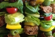 New Year's Eve Appetizer: Greek Salad Skewers