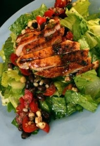 Grilled Chicken Salad with Cherry Tomato Black Bean Salsa | Recipes ...