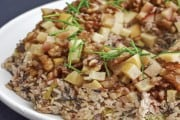 Rice Salad with Toasted Nuts, Apples, and Onion Dressing