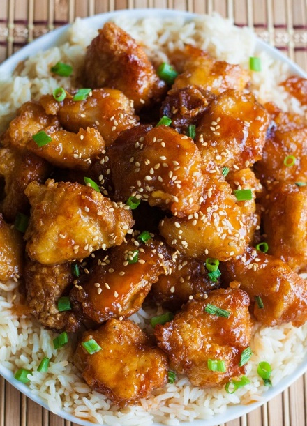 Sesame Chinese Chicken with Rice