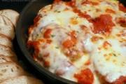 Skillet Chicken Parmesan Over Pasta