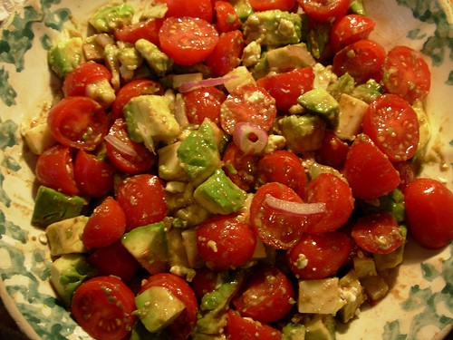 Tomato and Avocado Salad - Recipes & Me