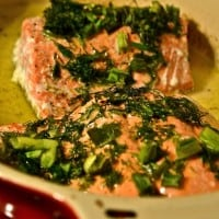 Roasted Salmon with Herbs