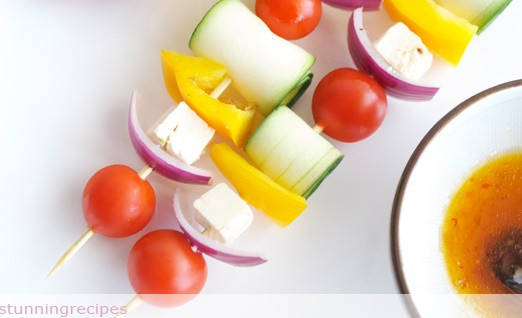 Vegetable brochettes