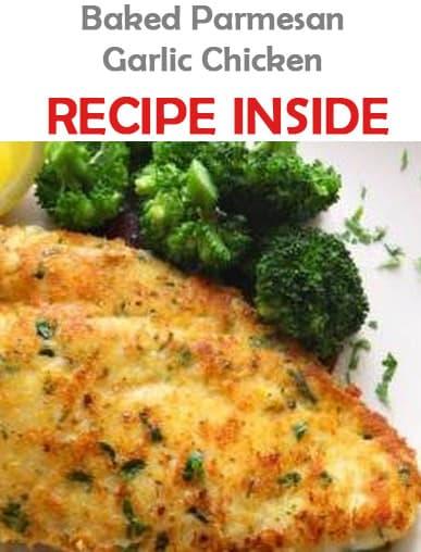 Baked Parmesan Garlic Chicken - Recipes & Me