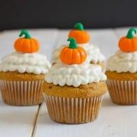 Halloween Orange Pumpkin Cupcakes