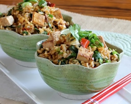 Brown Rice with Tofu