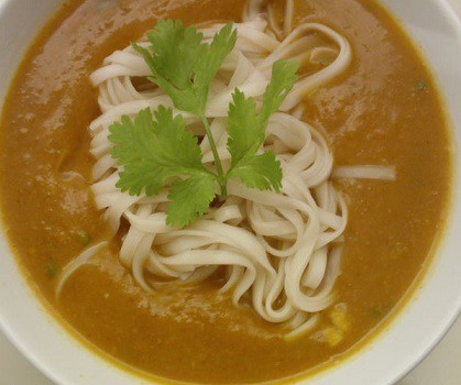 Thai Pumpkin and Chilli Noodle Soup