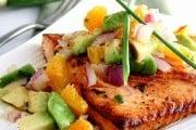 Citrus-Glazed Salmon with Avocado Salsa