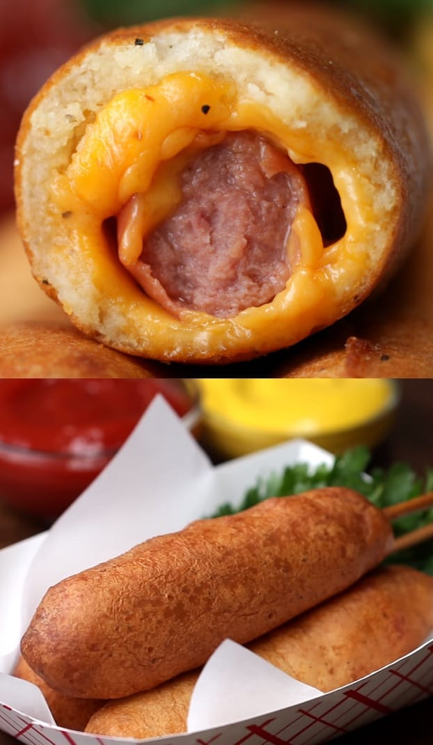 Corn Dogs with Stuffed Cheese