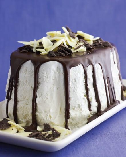 Black and White Ice Cream Bombe