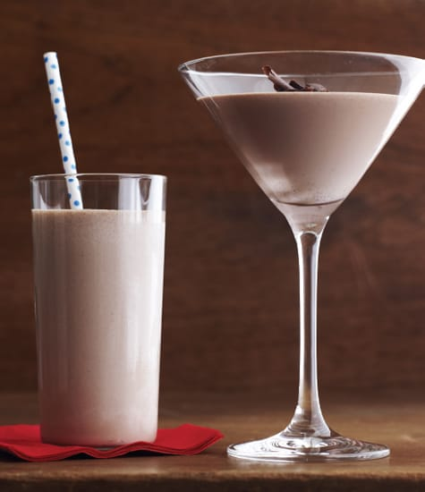 Chocolate Hazelnut Milk Shake Martinis