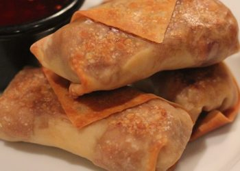 New Year's Eve Appetizer: Baked Egg Rolls