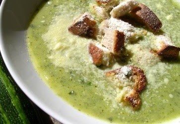 Courgette & Basil Soup