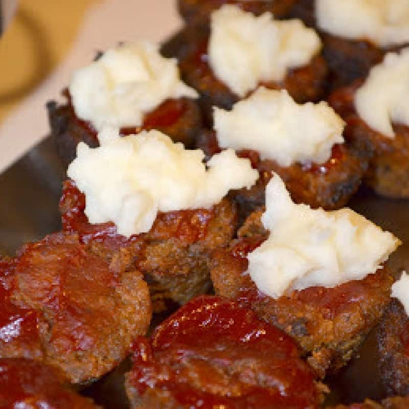 These meatloaf cupcakes make great appetizers for any party