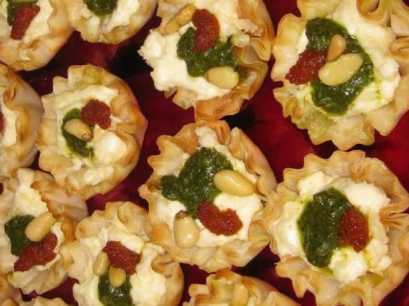 Savory Christmas tartlets