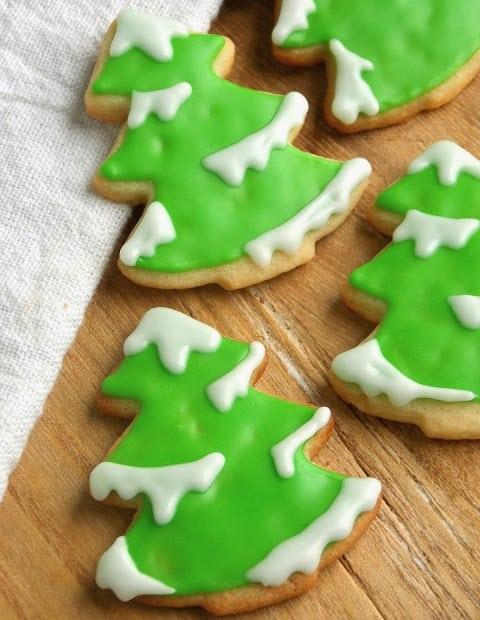 Snowy Tree Sweet Cookies
