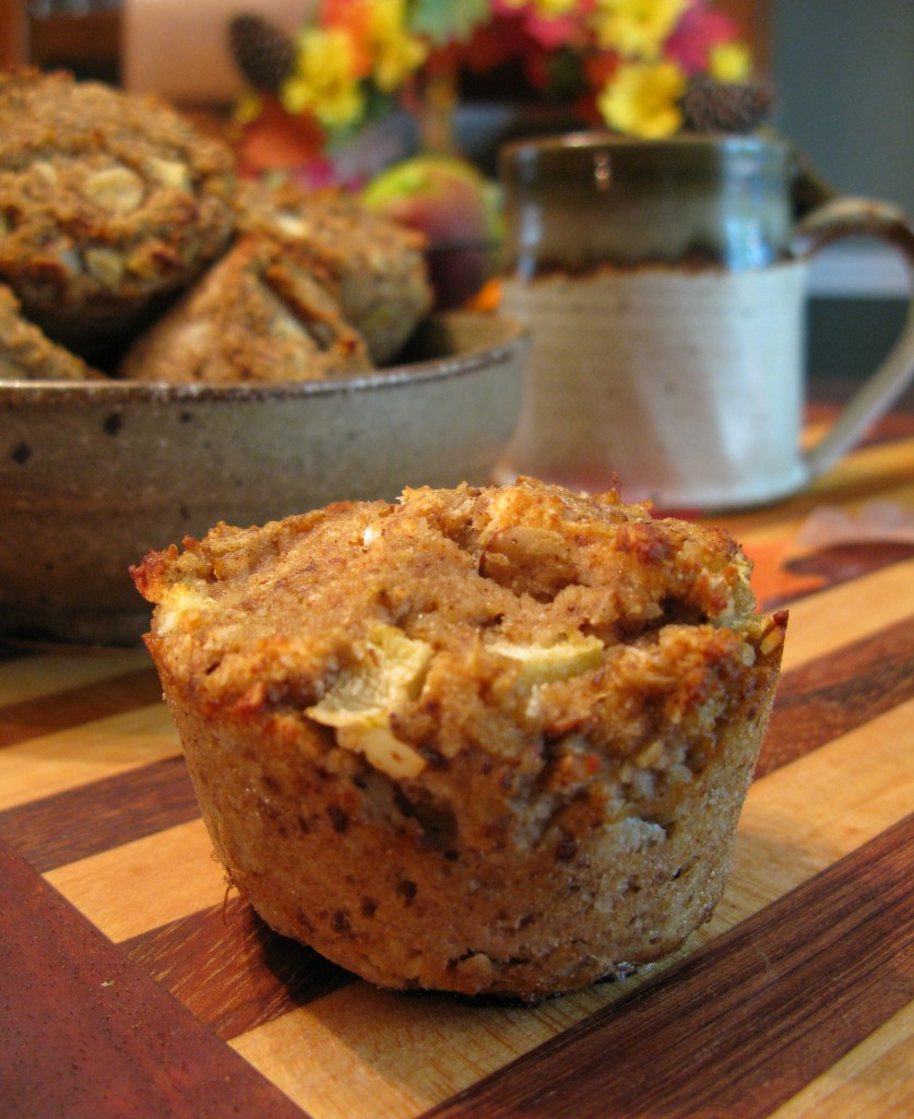 "Paleo Apple ""Oat"" Muffins"