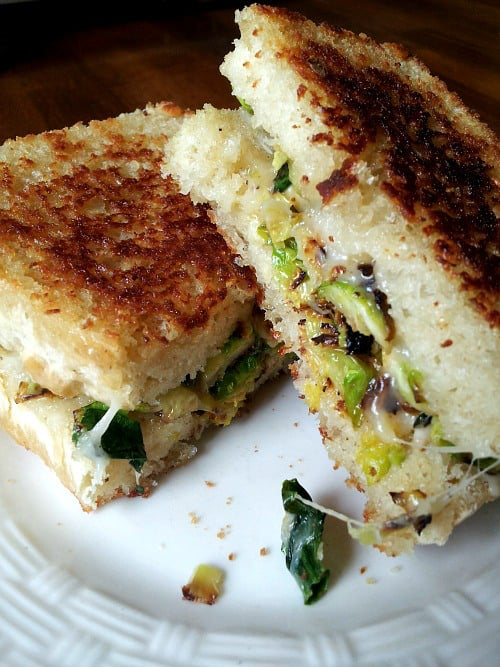 Brussel Sprouts Grilled Cheese