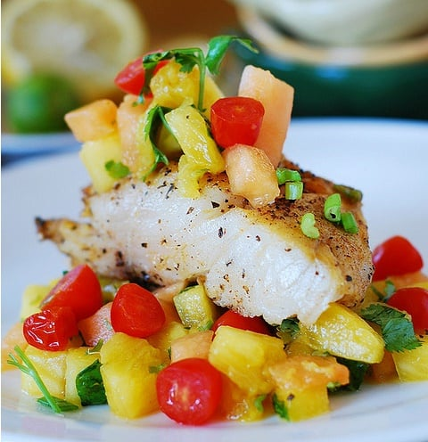Baked Fish with Fruits