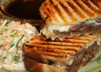 Panini with Gravy and Thai style Coleslaw