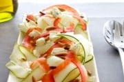 Zucchini salad with cheese