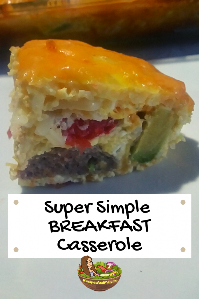 Breakfast Sausage Casserole With Hash Browns, super simple!