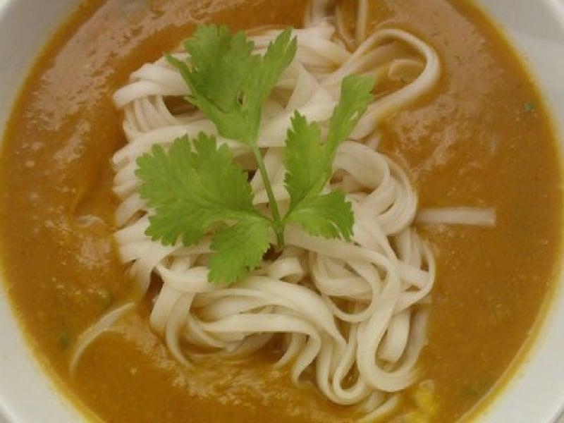 Thai Pumpkin and Chilli Noodle Soup
