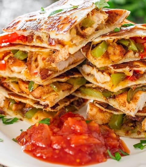 Chicken Fajita Quesadillas