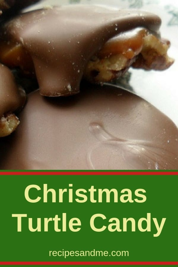 Looking for some delicious treats to share at Christmas with family and friends? This Christmas turtle candy recipe make with healthy pecans, gooey caramel, and delicious chocolate is perfect in every way. Forget the cookies: this unique candy is easy to make, melts in your mouth delicious and something different everyone will love. #turtlecandy #christmas #holidaydesserts #sweets #recipes #decadent #christmastreats