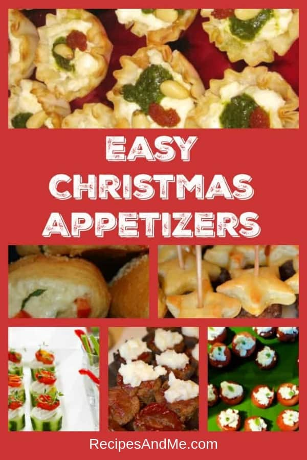 Are you looking for some easy Christmas appetizer recipes for your next holiday party? Here are some delicious and healthy finger foods you can make ahead of time for your family or for a crowd. Includes treats for kids and for vegetarians that everyone will love. #christmasappetizers #christmasparty #christmasfood #fingerfoods #appetizers #christmas #recipes