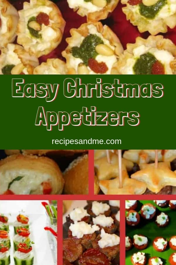If you are looking for some easy Christmas appetizers for this year's holiday party, you'll love these delicious and healthy finger foods you can make ahead of time for your family or for a crowd. Includes treats for kids and for vegetarians that everyone will love. #christmasfood #fingerfoods #appetizers #christmas #recipes #christmasappetizers #christmasparty #recipesandme