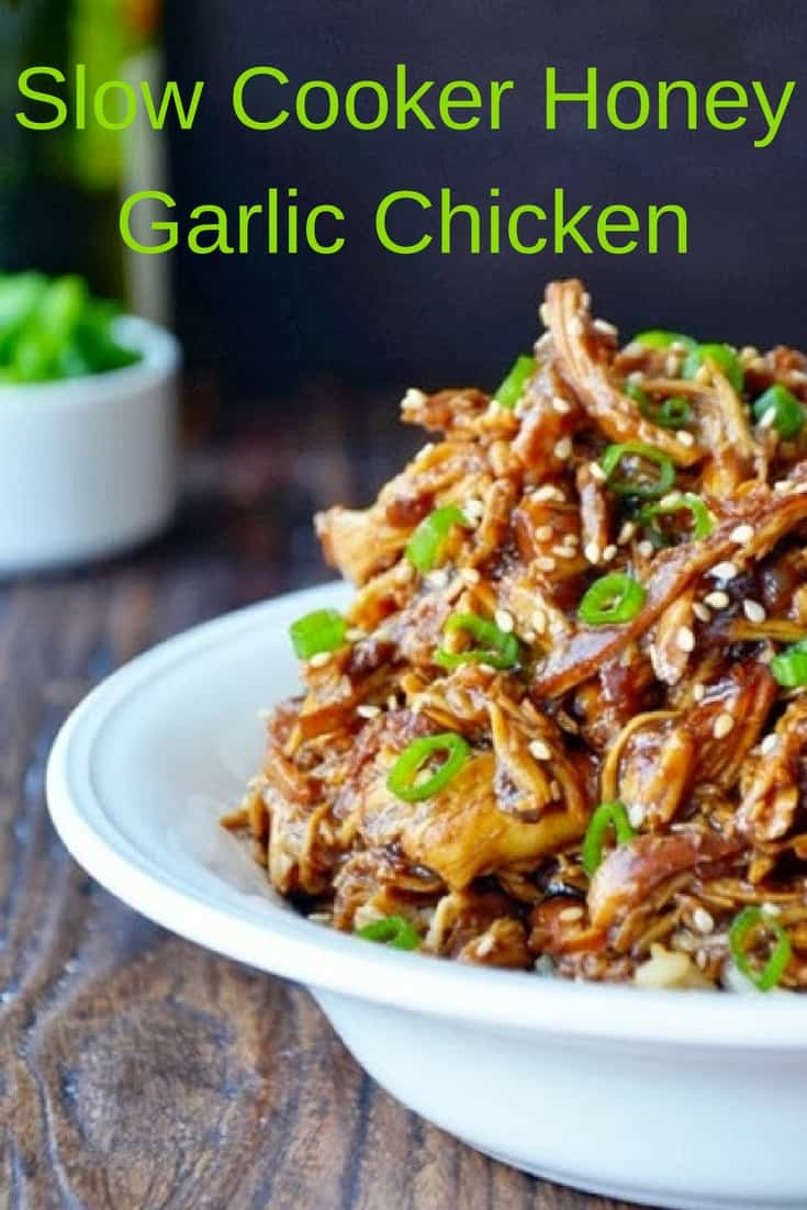 This slow cooker honey garlic recipe is to die for and soo easy to make!!