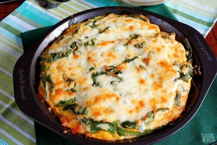 Crustless spinach cheese pie - gluten free