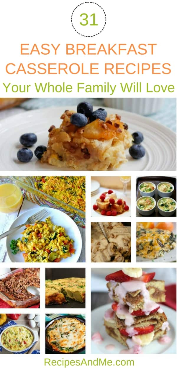 Here's a collection of make ahead, easy breakfast casserole recipes. They are all easy to make, and perfect for feeding a crowd or just for the family. They are tasty, filling, simple to make, and you can prep them in the evening and just pop them in the oven when you wake up for a tasty breakfast ready in no time. Great for breakfast, lunch and dinner. These recipes will help you reclaim your morning sanity ;) #CasseroleRecipes #BreakfastCasseroleRecipes #CasseroleRecipesSweetPotato #Recipes #Breakfast #Egg #Casserole