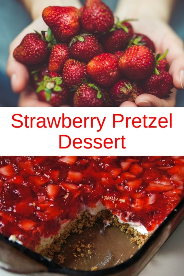 This sweet and salty strawberry pretzel dessert made from crushed pretzel crust, cream cheese filling and a delicious strawberry jello topping with fresh strawberries, is a hit at bbq parties, picnics and at home. Make it all summer long for a delicious treat everyone will love. #recipes #Healthy #Dinner #lunch #snack #dessert #strawberries #cooking #simple #mealprep #Easy
