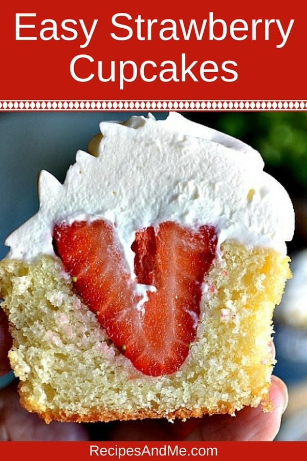 These easy strawberry cupcakes made from scratch, are simple to make light and fluffy, moist and delicious summer treats the whole family will love. Perfect for parties or just for a delightful indulgence at the end of the day. #recipes #Dinner #dessert #strawberry #cupcakes #simple #mealprep #Easy