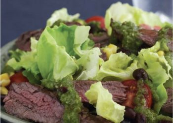 Pan Fried Skirt Steak With Salsa Verde
