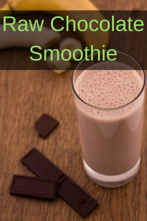 This raw chocolate smoothie is the perfect breakfast on the run. Made with just a few ingredients, it's the perfect healthy start to your day. This easy to make recipe contains raw cocoa powder, honey, frozen banana, avocado and almond milk. Kids love it too!