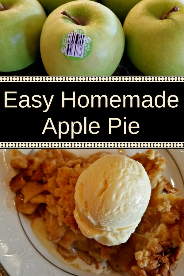 This easy homemade apple pie recipe was handed down through generations in my family. Made with Granny Smith apples filling, mom's apple pie perfectly combines sweet, sour and spicy in a wonderfully melt in your mouth dessert. The top crumble is the best I've ever tasted, and you can only get this when you make your pie from scratch. #recipes #dessert #apple #pie #applepie #Dinner #lunch #snack #cooking #simple #mealprep #Easy
