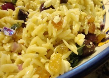 Lemon Orzo Salad With Feta