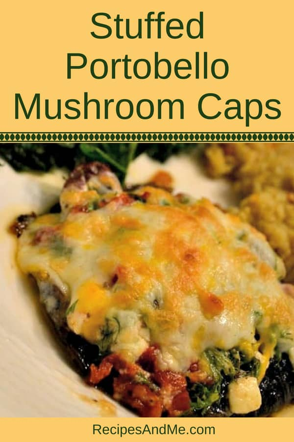 These stuffed portobello mushroom caps are absolutely to die for! Perfect for a healthy side, you can stuff them with vegetarian or vegan ingredients, or you can add chicken or beef if you prefer. Top with cheese and bake for a delicious side dish for your dinner.