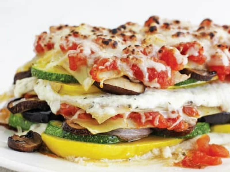 Zucchini and summer squash lasagna