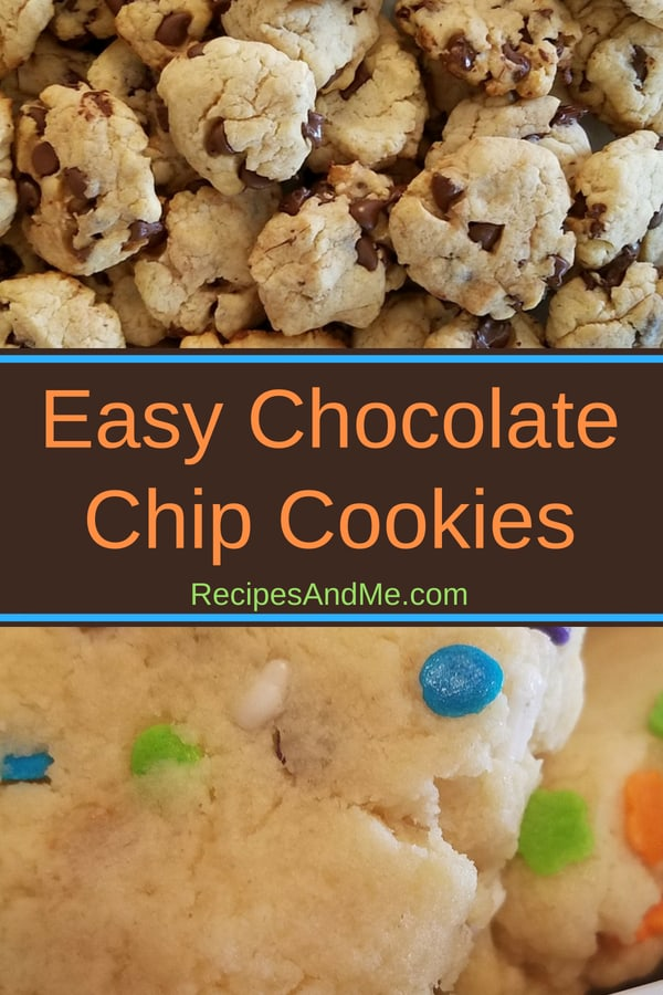 This is a must try chocolate chip cookies recipe: easy to make and loved by little ones. Not exactly healthy, but it's homemade from scratch, using only 5 ingredients, and it's deliciously chewy. Best little cookies ever!