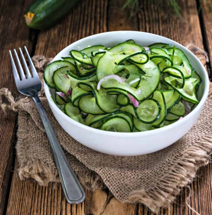 Easy Cucumber Salad With Red Onions And Fresh Dill
