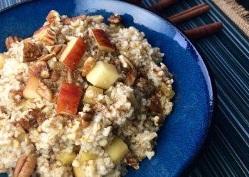 Apple cinnamon oats slow cooker recipe