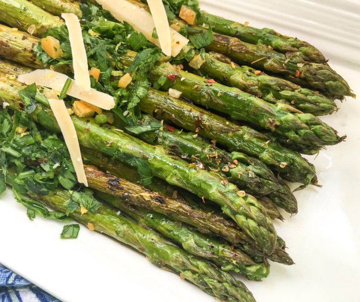 Grilled Marinated Asparagus with Gremolata