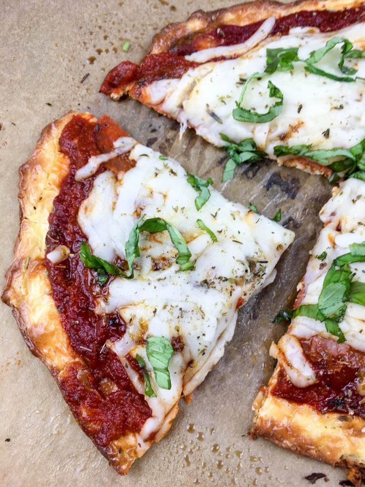 Easy Weeknight Keto Pepperoni Pizza