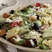 Greek Pasta Salad With Feta Cheese